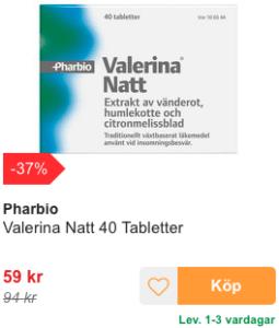 valerianatt insomningsbesvär