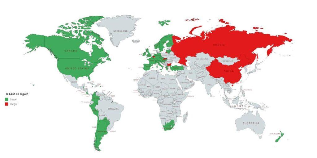 är CBD olja lagligt i resten av världen