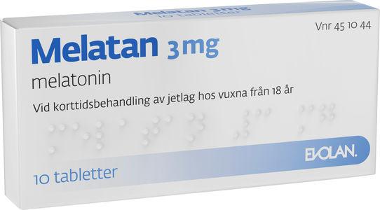 melatan melatonin receptfritt